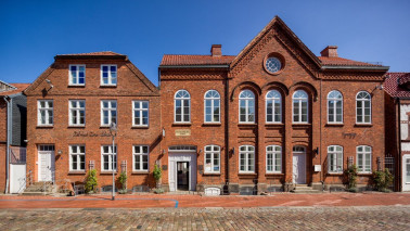 Außenansicht des Jüdischen Museums in Rendsburg.